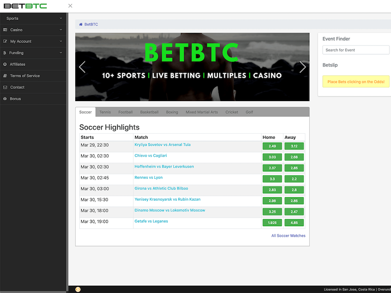 Betbtc Sportsbook | Since 2014 | 100% Welcome Bonus